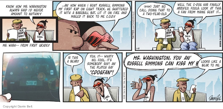 Comic Strip Darrin Bell  Candorville 2010-01-10 baseball bat