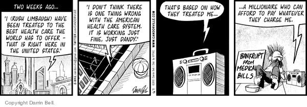 Comic Strip Darrin Bell  Candorville 2010-01-13 medical bill