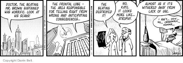 Comic Strip Darrin Bell  Candorville 2010-01-19 violent