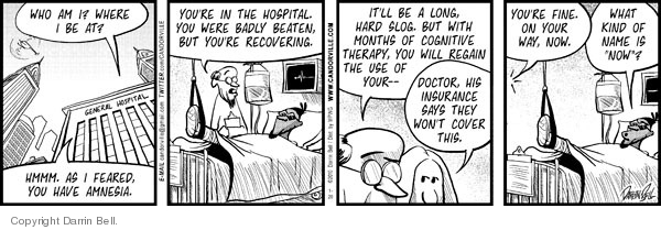 Cartoonist Darrin Bell  Candorville 2010-01-20 medical insurance