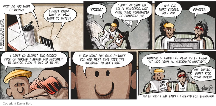 Comic Strip Darrin Bell  Candorville 2010-01-24 strategy