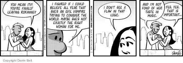 Comic Strip Darrin Bell  Candorville 2010-02-05 incompatibility
