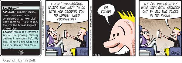 Comic Strip Darrin Bell  Candorville 2012-01-16 hate