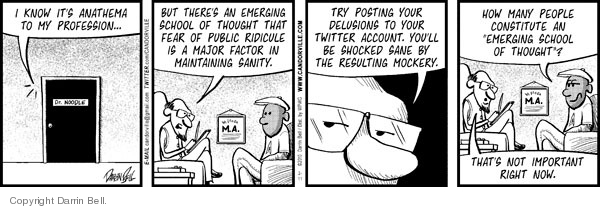 Cartoonist Darrin Bell  Candorville 2010-02-11 doctor