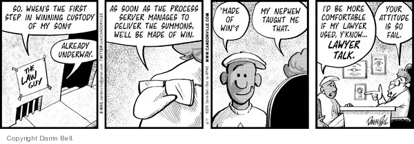 Cartoonist Darrin Bell  Candorville 2010-02-19 nephew
