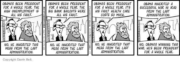 Comic Strip Darrin Bell  Candorville 2010-02-23 Obama administration