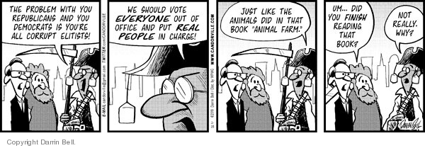 Comic Strip Darrin Bell  Candorville 2010-02-25 democratic party