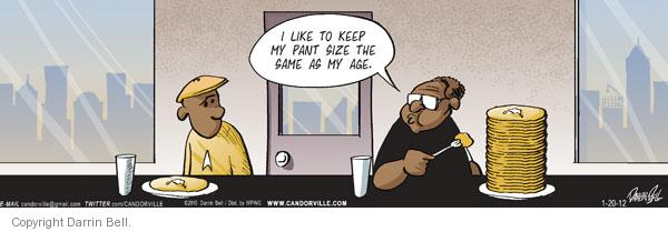 Comic Strip Darrin Bell  Candorville 2012-01-20 eat
