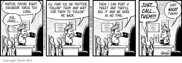 Comic Strip Darrin Bell  Candorville 2010-03-05 social media