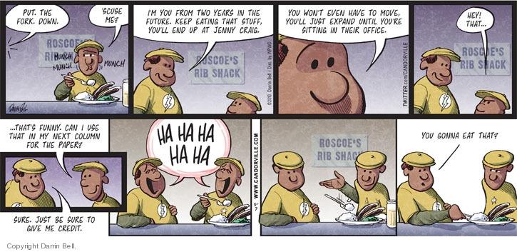 Comic Strip Darrin Bell  Candorville 2010-03-07 'scuse