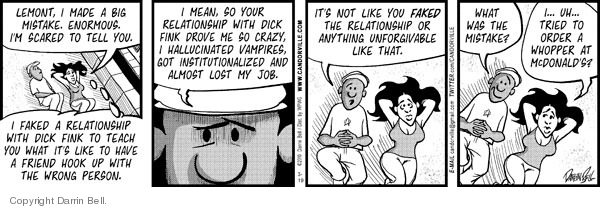 Comic Strip Darrin Bell  Candorville 2010-03-19 hamburger