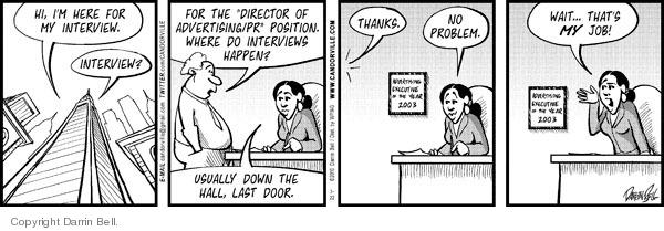 Cartoonist Darrin Bell  Candorville 2010-03-22 wait