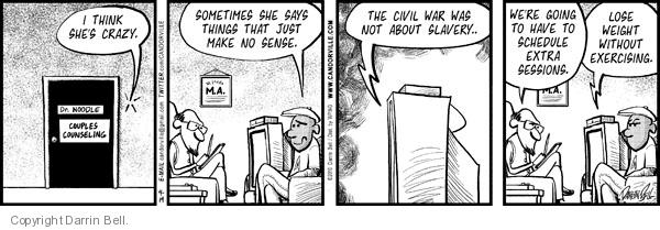 Comic Strip Darrin Bell  Candorville 2010-04-19 psychiatry