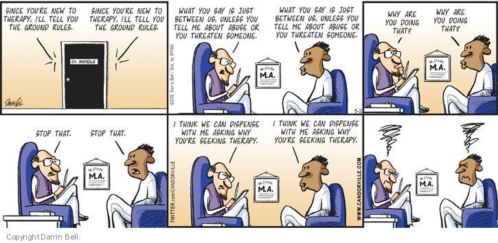 Comic Strip Darrin Bell  Candorville 2010-05-02 abuse