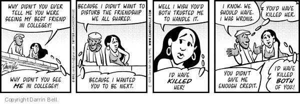 Cartoonist Darrin Bell  Candorville 2010-05-05 reaction