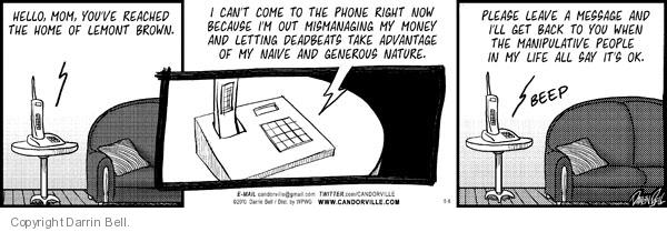 Comic Strip Darrin Bell  Candorville 2010-05-08 call
