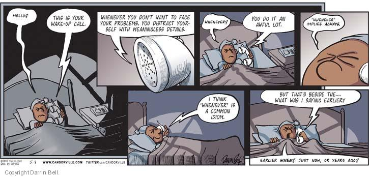 Comic Strip Darrin Bell  Candorville 2010-05-09 call