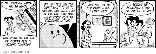 Comic Strip Darrin Bell  Candorville 2012-04-30 illegal immigrant