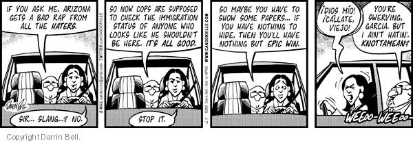 Comic Strip Darrin Bell  Candorville 2012-05-02 bad cop