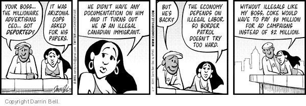 Comic Strip Darrin Bell  Candorville 2012-05-04 deport