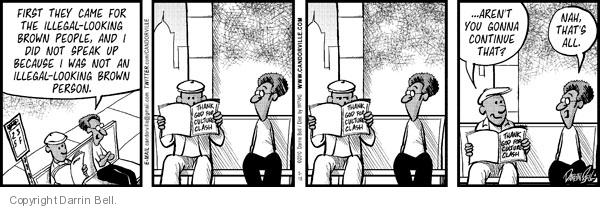 Comic Strip Darrin Bell  Candorville 2012-05-05 illegal immigrant