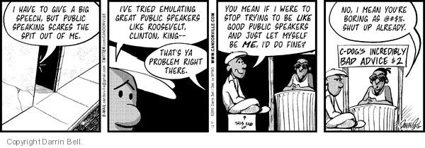 Comic Strip Darrin Bell  Candorville 2010-05-17 counselor