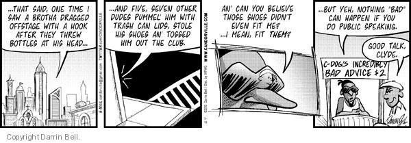 Comic Strip Darrin Bell  Candorville 2010-05-18 good advice