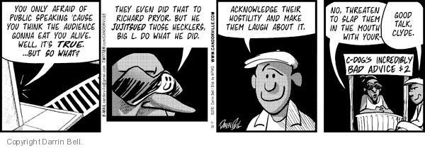 Cartoonist Darrin Bell  Candorville 2010-05-20 hostility