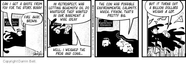Cartoonist Darrin Bell  Candorville 2010-05-28 oil company