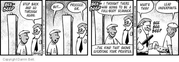 Comic Strip Darrin Bell  Candorville 2010-06-14 security checkpoint