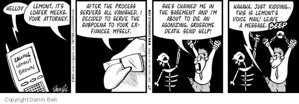 Comic Strip Darrin Bell  Candorville 2010-06-16 chain