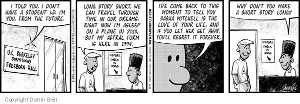 Comic Strip Darrin Bell  Candorville 2010-06-21 Back to the Future