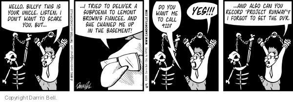 Cartoonist Darrin Bell  Candorville 2010-06-30 show