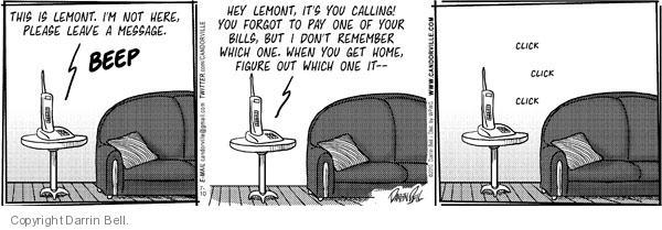 Comic Strip Darrin Bell  Candorville 2010-07-10 call