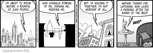 Comic Strip Darrin Bell  Candorville 2010-07-12 call