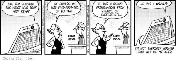 Cartoonist Darrin Bell  Candorville 2010-07-14 description