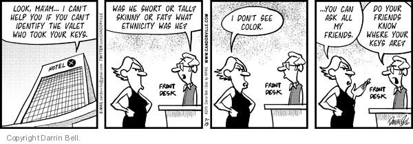 Cartoonist Darrin Bell  Candorville 2010-07-15 parking