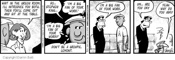 Comic Strip Darrin Bell  Candorville 2010-07-20 big fan