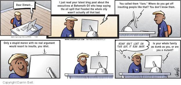 Comic Strip Darrin Bell  Candorville 2010-07-25 call
