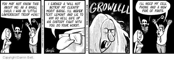 Comic Strip Darrin Bell  Candorville 2010-08-04 threat