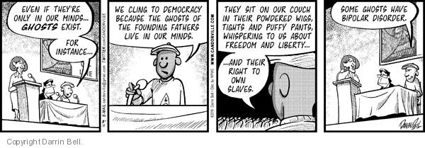 Comic Strip Darrin Bell  Candorville 2010-08-11 Liberty Bell