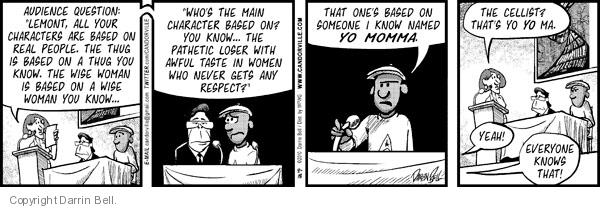 Comic Strip Darrin Bell  Candorville 2010-08-18 gangster