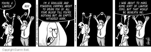 Cartoonist Darrin Bell  Candorville 2010-08-20 intimidation