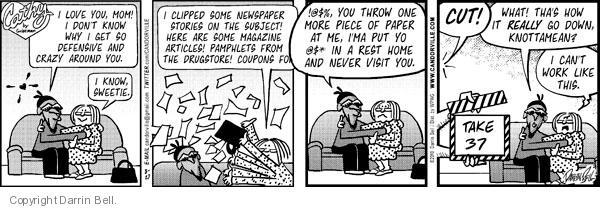 Cartoonist Darrin Bell  Candorville 2010-08-27 newspaper article