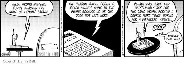 Comic Strip Darrin Bell  Candorville 2010-08-28 call