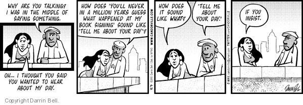 Comic Strip Darrin Bell  Candorville 2010-08-30 insist