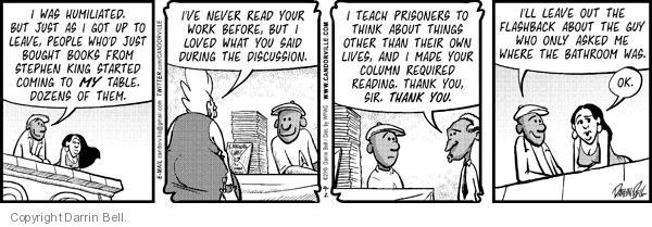 Cartoonist Darrin Bell  Candorville 2010-09-02 live