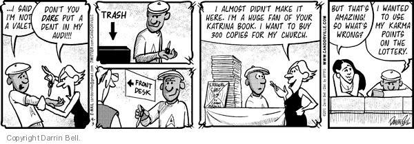 Comic Strip Darrin Bell  Candorville 2010-09-03 desk