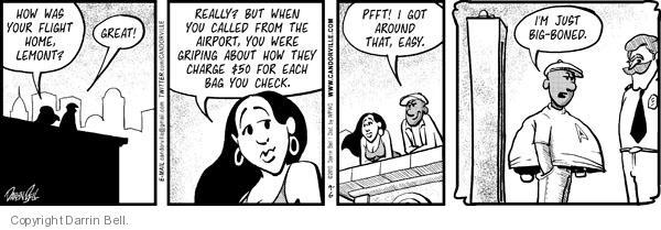 Comic Strip Darrin Bell  Candorville 2010-09-06 passenger