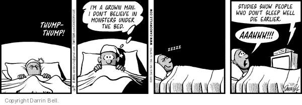 Comic Strip Darrin Bell  Candorville 2012-07-09 monster under bed